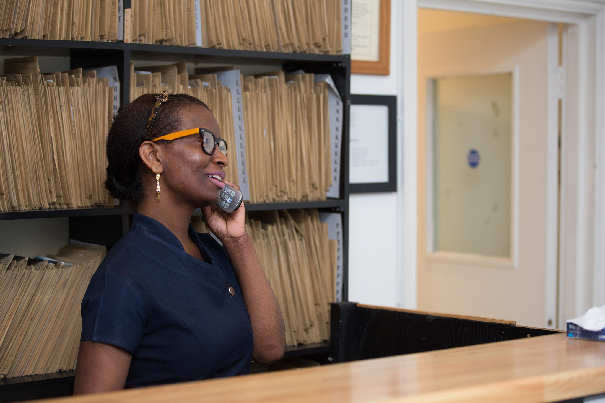 With fewer in-person patients, GP reception staff are spending more time each day on the phone
